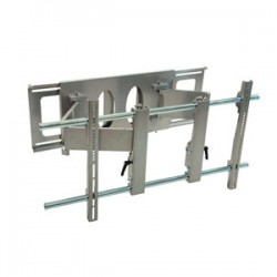 Video Mount Products PDS-LWA Large Flat Panel Articulating Wall Mt Tilt, 52-63in, Silver