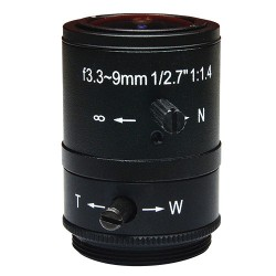 ACTi PLEN-0131 IR Fixed Iris Megapixel Varifocal Lens, 3.3-9mm