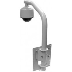 Pelco PP350 Wall mount for use with small and medium outdoor pendant Mount Domes (1.5-inch NPT)
