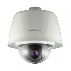 Samsung Security SCP-3120VH 12x Outdoor Vandal-Resistant True Day/Night PTZ Mini Dome Camera w/Sunshield, WDR