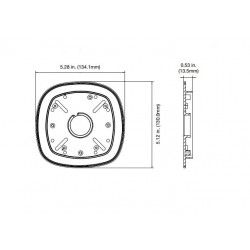 Interlogix TVW-2G-AD TruVision Double Gang Box Adapter Plate