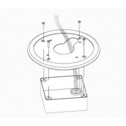 American Dynamics ADCPWMELEC 4S Electrical Mount Adapter (White)