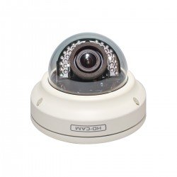Cantek CAN-TVI-60D Outdoor Dome Camera - 1080p HD-TVI, 2.8 ~ 12mm Vari-focal Lens, DC12V/AC24V