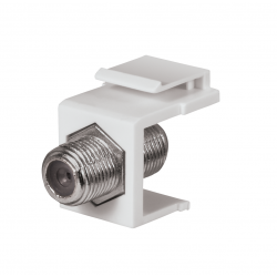 DataComm 20-3202-WH Keystone Jack with 2.4 GHz F-Connector, (White)
