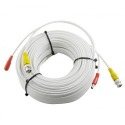 DHVision DH-PM-100W 100ft Premade Siamese Cable, White