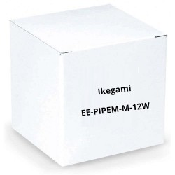 "Ikegami EE-PIPEM-M-12W 1"" Diameter 12"" Length Extension Pipe, Male/Male, White"