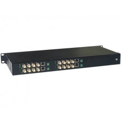 American Fibertek ET4200CPp-R16 Receiver of 16 Port Coax to 4 Port 10/100/1000Base-TX Ethernet Over Coax Extender with PoC