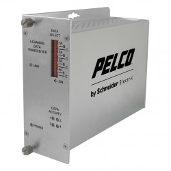 Pelco FTD4M1ST 4-Channel Fiber Transmitter Bidirectional Data
