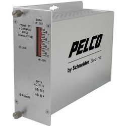 Pelco FTD4S1ST 4-Channel Fiber Transmitter Bidirectional Data