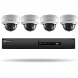 Hikvision I7604N1TA 4-Channel 5MP NVR w/1TB HDD & 4 2MP Dome Cameras