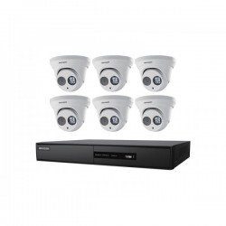 Hikvision I7608N2TP 8-Channel 5MP NVR w/ 2TB HDD & 6 4MP Turret Camera