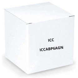 ICC ICCABP6AGN 650MHz CAT6A Bulk Cable with 23 AWG UTP Solid Wires, CMP Jacket in a Pull Box, 1000', Green