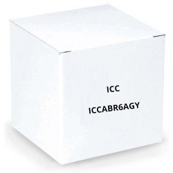 ICC ICCABR6AGY 650MHz CAT6A Bulk Cable with 23 AWG UTP Solid Wires, CMR Jacket in a Pull Box, 1000', Gray