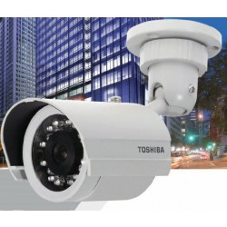 Toshiba IK-7100A-8 Indoor/Outdoor Day/Night IR Bullet Camera with 8 mm Lens