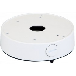 Speco JB03TW Metal Round Junction Box for Turret Cameras, White