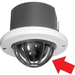 Pelco LD53HDCF-1 Spectra IV / III HD Dome, In-Ceiling with Cage, Clear