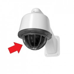 Pelco LD53HDCPB-0 Heavy-Duty Spectra III Lower Dome with Cage, Smoked