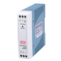 Vivotek MDR-10-12 10W Single Output Industrial DIN Rail Power Supply