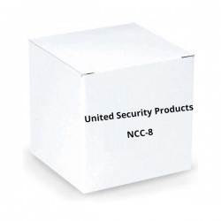 United Security Products NCC-8 1/4 Inch Phone Jack, 8ft. Cable