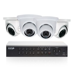 Cantek Plus NW4D1TB All Purpose 4 Camera TVI Dome Camera System