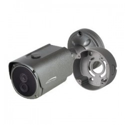 Speco O2TMLB8 2MP Dual Thermal H.265 Bullet IP Camera with Junction Box, 4mm Fixed Lens, Gray Housing