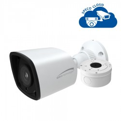 Speco O4VLB5 4 Megapixel Network IR Bullet Camera with Junction Box, 2.8mm Lens, White