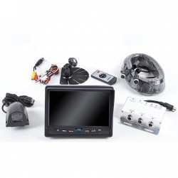 """RVS Systems RVS-775613-02 420 TVL 7"""" Display, Backup and Left Side Camera, Multiplexer Box, 66ft and 33' Cable"""
