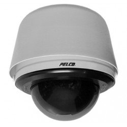 Pelco S6230-ESGL1 2 Megapixel Spectra Enhanced Low Light HD Pendant Environmental Network Stainless Steel PTZ Dome Camera, 30X, Clear, Gray