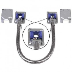 Seco-Larm SD-969-T15Q/S Armored Door Cord with Terminal Blocks (Silver)