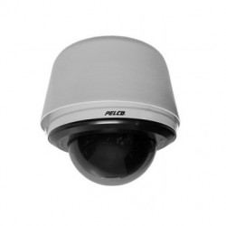 Pelco SD4E23-PG-E0-X 540 TVL Pendant Environmental Network IP PTZ Camera, Smoked, Light Gray, 23X Lens, PAL