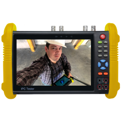 """SecurityTronix ST-ALLIN1-TEST2 7"""" Field Monitor Test Meter For Analog, TVI, CVI, AHD, SDI & IP With Integrated Video Monitor & Multi-Meter"""