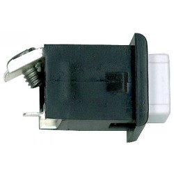 Alpha ST008 Pushbutton-Black/White-1 Screw