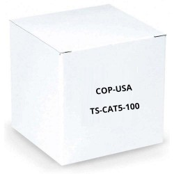 COP-USA TS-CAT5-100 CAT5 Patch Cable 100 Feet