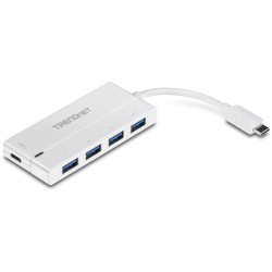TRENDnet TUC-H4E2 USB-C to 4-Port USB 3.0 Hub with Power Delivery
