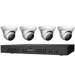 Interlogix TVR-1508-KT1 HD-TVI Analog Surveillance Bundle Contains 1 8 Channel DVR with 2TB and 4 Indoor /Outdoor 3 Megapixel IR Turret Camera, 2.8mm Lens