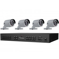 Interlogix TVR-1508-KB1 HD-TVI Analog Surveillance Bundle Contains 1 8 Channel DVR with 2TB and Indoor/Outdoor 3 Megapixel IR Bullet Cameras, 3.6mm Lens