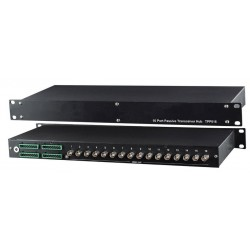 Speco UTP16P 16-Port Passive Transceiver Hub, 1U Rack Mounting Panel