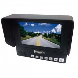 """Weldex WDRV-7464M 7"""" Color Quad View TFT LCD High Resolution Monitor"""