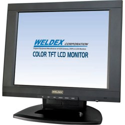 Weldex WDL-1500M 15-inch LCD Monitor w/Accs - Desk Top Stand Inc