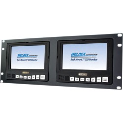 Weldex WDL-7172M2R 7-inch TFT LCD Dual Rack Mount LCD Monitors & Accessories