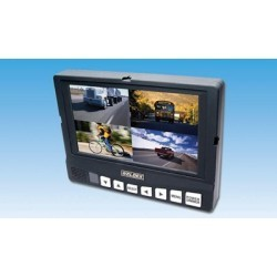 """Weldex WDRV-7444M 7"""" Color Quad View TFT LCD High Resolution Monitor"""