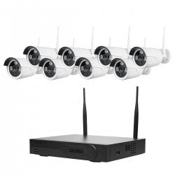 Cantek WIFI8B-4TB Unpack-N-Play 8 Bullet Camera WIFI HD NVR 4TB Kit