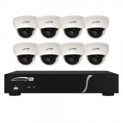 Speco ZIPL88D2 8Ch NVR System w/8 Dome Cameras, 2TB