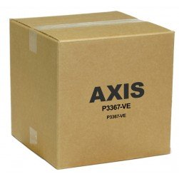 Axis 0407-001 P3367-VE 5MP HD Outdoor Day/Night IP Vandal Dome, 3-9mm