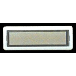 Alpha 10510WH STR Panel Button-Standard-White