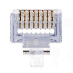 Platinum Tools 100009C EZ-RJ45 Cat6+ Connectors, 10pc Clamshell