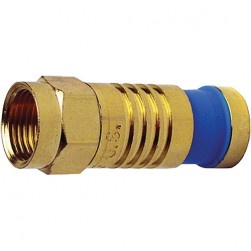 Platinum Tools 18016 F-Type RG59 Gold SealSmart Coaxial Compression Connector. 10 pc. Clamshell