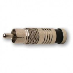 Platinum Tools 18061 RCA-Type RG59 Nickel SealSmart Coaxial Compression Connector. 6 pc. Clamshell
