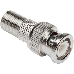 Platinum Tools 18310C BNC Male to F Female Adapter (Clamshell of 2)