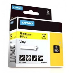 "Dymo 18433 RHINO 3/4"" (19mm) Yellow Vinyl Labels"
